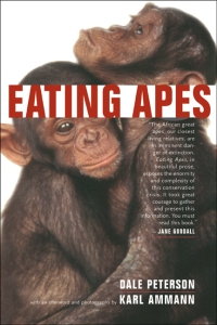 Dale Petersen's very thought-provoking book Eating Apes, about the problems with bushmeat markets in Africa.