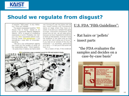"Regulating from disgust... the FDA ""filth guidelines"""